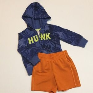 Carter's Hunk Zip-Up Sweater + Shorts